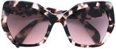 Prada 'Triangle' sunglasses - women - Acetate - 56