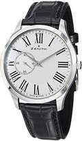 Zenith Men's 032010681.11C Class EL New Black Leather Strap Watch