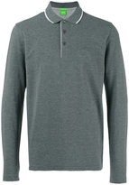 HUGO BOSS long-sleeve polo shirt - men - Cotton - S