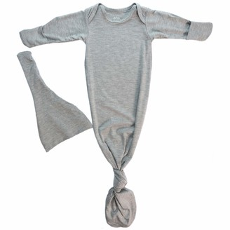 Three Little Tots Newborn Baby Knotted Tie Gown - Infant (Gray)