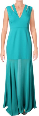 BCBGMAXAZRIA Azria Women's Orlena Illusion Bottom Gown
