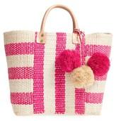 Mar y Sol 'Collins' Woven Tote - Pink