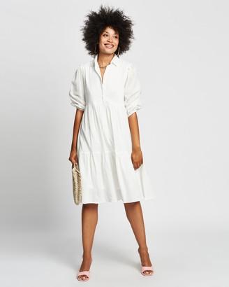 Reverse Midi Shirt Dress