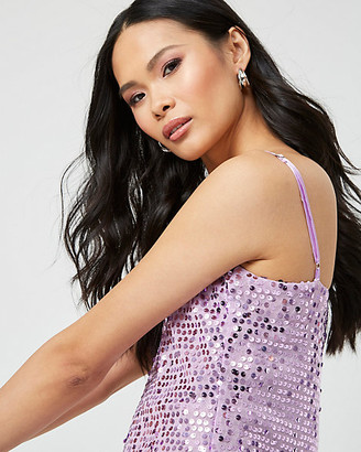 Le Château Sequin & Knit V-Neck Tank Top