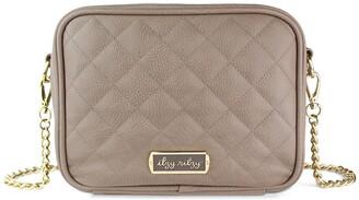 Itzy Ritzy Double Take Faux Leather Crossbody Diaper Bag