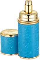 Creed Logo Etched Leather Atomizer, Gold/Blue