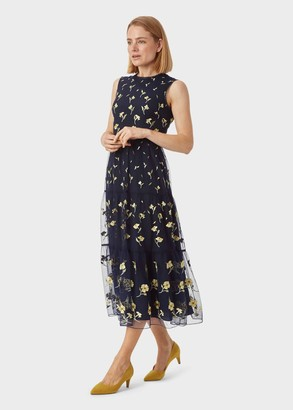 Hobbs Bethany Embroidered Dress