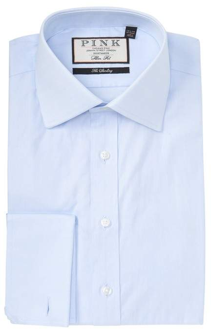 Thomas Pink Arthur Twill Slim Fit Dress Shirt