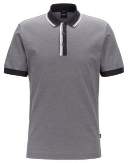 BOSS Slim-fit polo shirt with two-tone trims