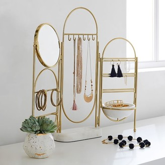 Pottery Barn Teen Marble and Gold Jewelry Holder Screen