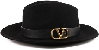 Valentino VLogo Signature Fedora Hat