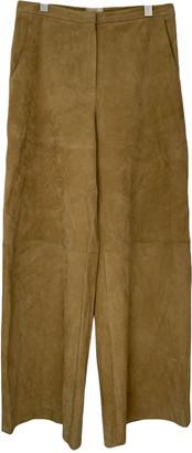 KHAITE Beige Suede Trousers