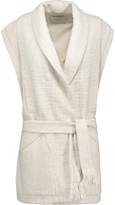IRO Champlin pleated cotton-tweed vest
