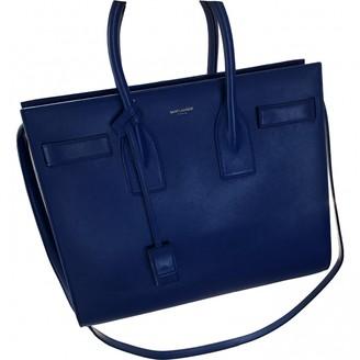 Saint Laurent Sac de Jour Blue Patent leather Handbags