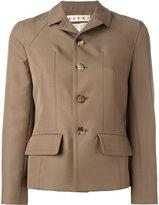 Marni single breasted jacket - women - Silk/Polyester - 38