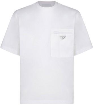 Prada Logo Front Pocket T-Shirt