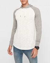 Express Hooded Marled Loose Knit Raglan T-Shirt