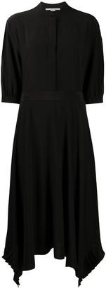 Stella McCartney Handkerchief-Hem Silk Shirt-Dress