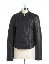 CK Calvin Klein Petite Faux Leather Motorcycle Jacket