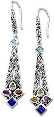Samuel B. Sterling Silver Multi Gemstone Earrings