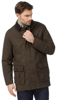Maine New England Big And Tall Brown Corduroy Collar Car Coat