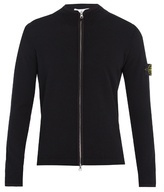 Stone Island Wool-blend Zip-up Sweater