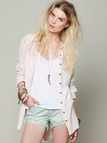Free People Tie Dye Gauze Button Down