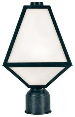 Crystorama Glacier White Glass Outdoor Post