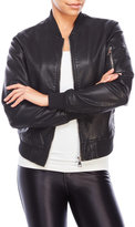 RD Style Faux Leather Bomber Jacket