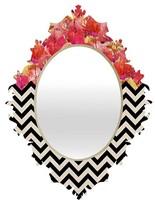 DENY Designs Chevron Flora 1 Baroque Mirror