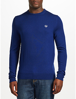 Fred Perry Merino Wool Crew Neck Jumper, French Navy