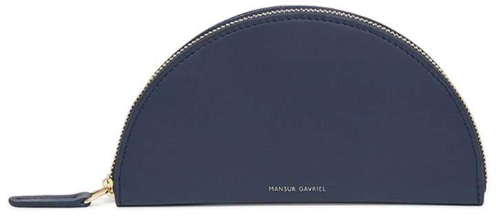 Mansur Gavriel Calf Mini Moon Wallet in Blu