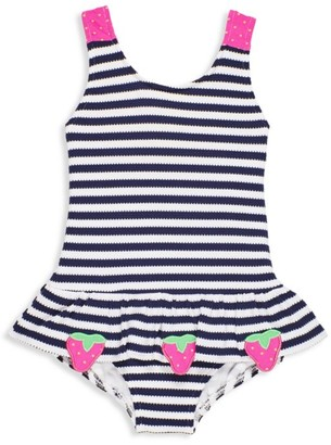 Florence Eiseman Little Girl's One-Piece Striped Strawberry Swimsuit