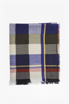 French Connection Checked Square Scarf