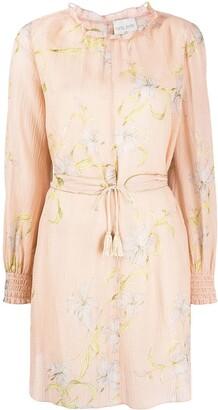 Forte Forte Floral-Print Tie-Waist Dress