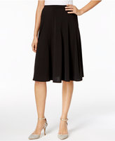 NY Collection Petite Panelled A-Line Skirt