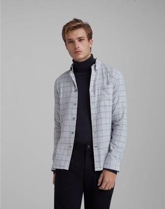 Club Monaco Windowpane Flannel Shirt