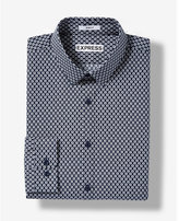 Express Slim Fit Geometric Dot Cotton Dress Shirt