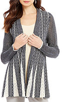 ZOZO Symphony Shawl Collar Long Sleeve Fit-And-Flare Cardigan