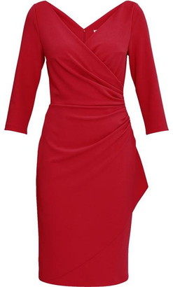 Gina Bacconi Keelia Crepe Wrap Dress
