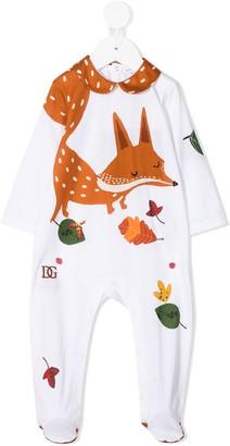 Dolce & Gabbana Kids Fox-Print Cotton Pajamas