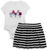 Kate Spade Girls' Monster Bodysuit & Skirt Set