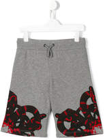 Marcelo Burlon County Of Milan Kids snake print shorts