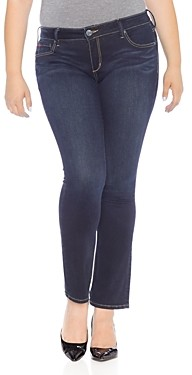 Slink Jeans Plus Straight-Leg Jeans in Summer