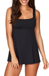 Sea Level Skirted One-Piece Swimsuit