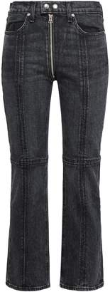 Rag & Bone Iver Zip-detailed High-rise Bootcut Jeans