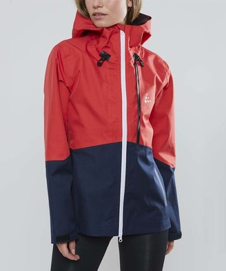 Craft Women's Windbreakers and Shell Jackets BEAM - Beam Red & Blue Color Block Hooded Zip-Up Jacket - Women