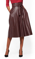 New York & Co. Paperbag-Waist Faux-Leather Skirt
