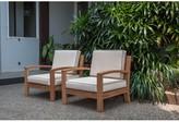Severine Deep Seating Teak Patio Chair with Cushions Bay Isle Home