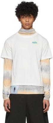 Keenkee White Tie-Dye Layered Long Sleeve T-Shirt